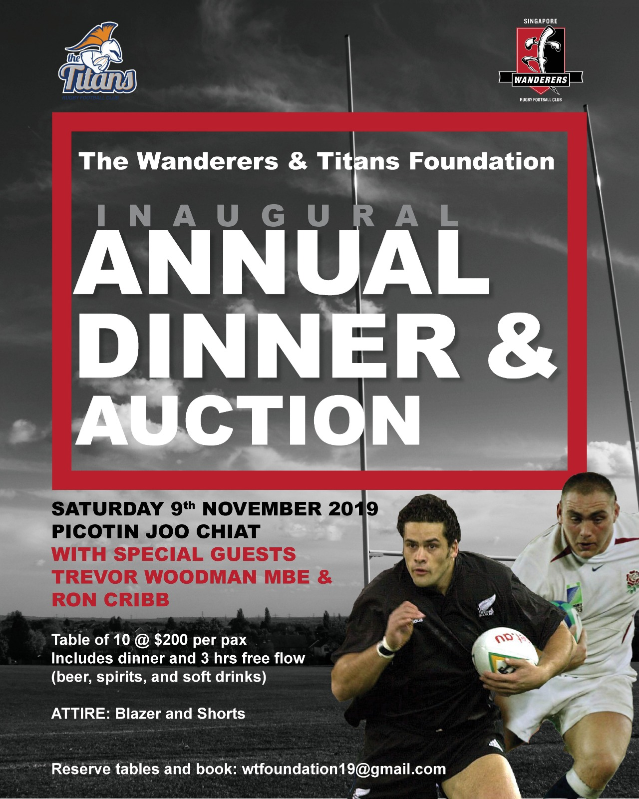 Wanderers and Titans Foundation Inaugural Dinner and Auction